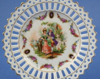 GERMANY LACE EDGE Porcelain Candy Dish