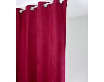 Rideau isolant thermique 140x260 pret à poser rouge