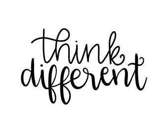 Think Different Vinyl Car Decal Bumper Window Sticker Any Color Multiple Sizes Jenuine Crafts