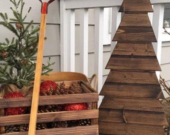 Wood Tree - (Short) | Wood Christmas Tree | Rustic Wood Tree | Wooden Tree | Rustic Home Decor | Christmas Decoration