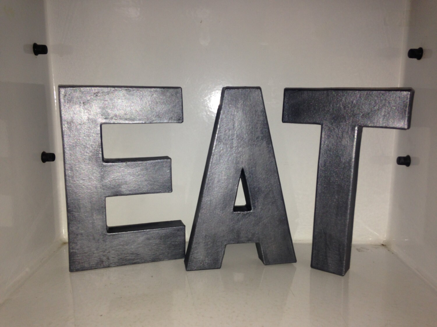 Standing Metal Letters Fascinating Decorative Letters Eat Free Standing Faux Metal Letters Design Inspiration