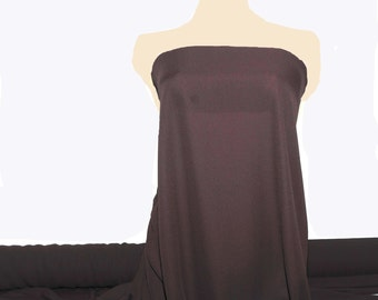 "Double Georgette Fabric Brown semi sheer sold by the yard 58"" wide for weddings, dresses or home decor"