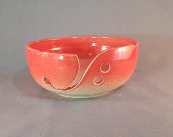 Handmade Ceramic Yarn Bowl, Yarn Bowl, Knitting Bowl