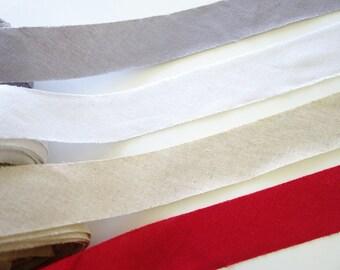 4cm Width Cotton Linen Bias Tape, Cotton Linen Binding Tape