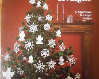 Crocheted Snowflakes & Angels, Leisure Arts, Pattern Leaflet #255, 1983