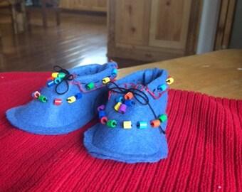 Baby moccasin booties Handmade   V101