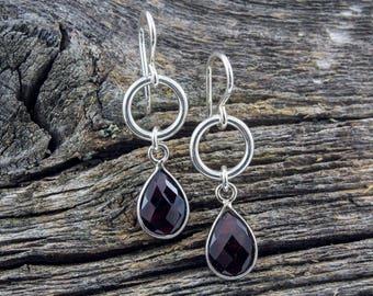 Garnet Spirit Stone Earrings