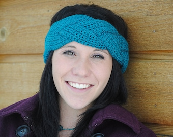 Instant Download - CROCHET PATTERN PDF - Natalie Braided Ear Warmer  - Permission To Sell Finished Items