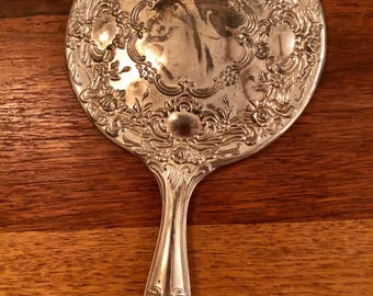 Vintage Silvertone Vanity Set Mirror Brush Comb