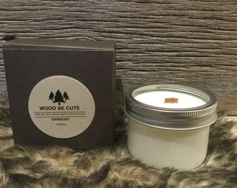 Sawdust 100%soy wax candle