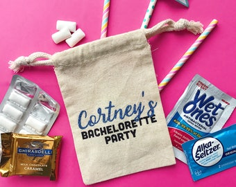 Custom bachelorette party favors -bachelorette party hangover bag-wedding -bachelorette hangover kit -bridesmaid gift -oh shit kit- tote bag
