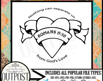 god is love nothing can seperate us christ svg romans 8 38