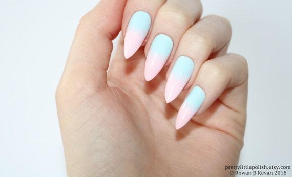 Stiletto nails Pastel ombre stiletto nails Fake nails Press