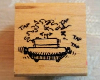 Wood Mounted ReMarkable Typist Rubber Stamp