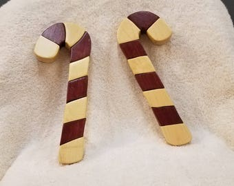 Candy Canes Intarsia Woodcraft