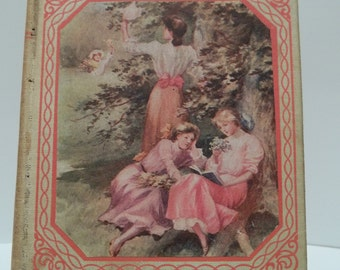 Antique 1893 Lonely Hills  Book Beautiful Color Hard Cover