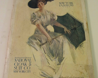 Magazine, Catalog, Antique, Vintage, Fashions, Ads and Lots More: 1909, National Cloak & Suit Co. Fashion Catalog