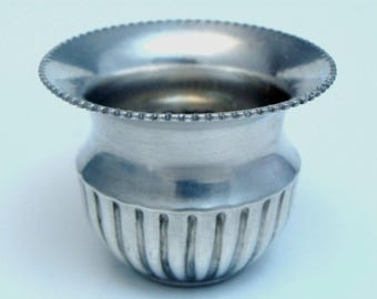 ANTIQUE 925 STERLING Silver Miniature Vase By M&K Corrugated Design Collectible