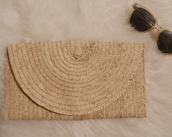 Cane Woven Clutch