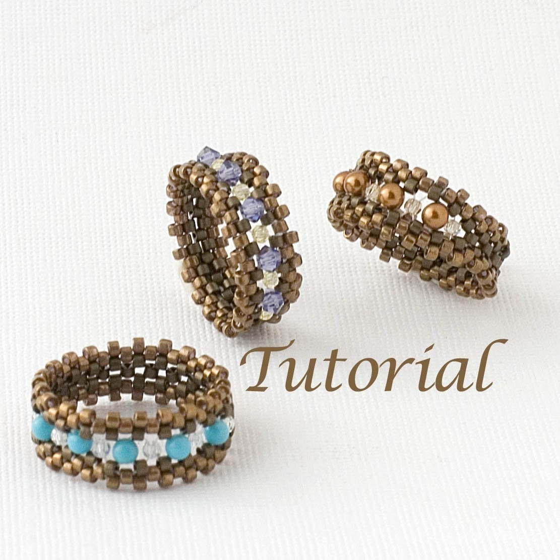 Beaded ring tutorial im with the band digital download zoom baditri Choice Image