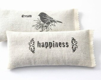 Lavender Dream Pillows, womens gift, lavendar sachets, rustic home fragrance, dream happiness bird decor