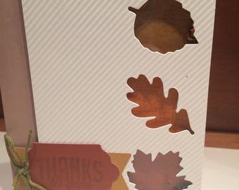 Fall Shaker Thank You Card