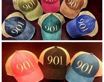 Trucker Hats l Mesh Hats l 901 l Area Code Hats