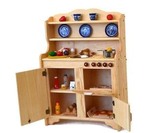 Waldorf kitchen-Wooden Play Kitchen-Wooden Toy kitchen - Montessori play kitchen-Elves and Angels- Play Kitchen-Wooden Toy- Pretend Kitchen