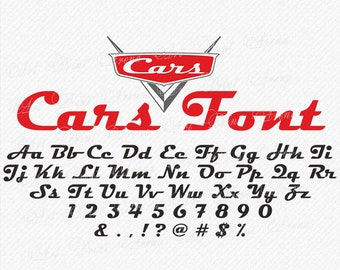 Cars Font svg, Disney Cars SVG font, Cars Alphabet, Cars Letters, Magneto Bold Font SVG, Cricut and Silhouette - svg, eps, dxf, png