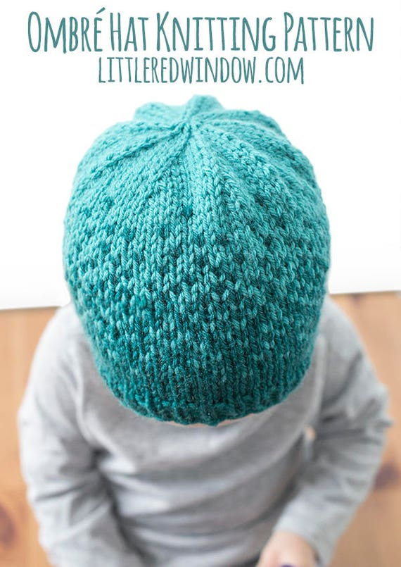 Baby Ombre Hat Knitting Pattern Fair Isle Pattern Ombre