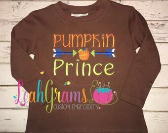Pumpkin Prince Fall Applique Shirt