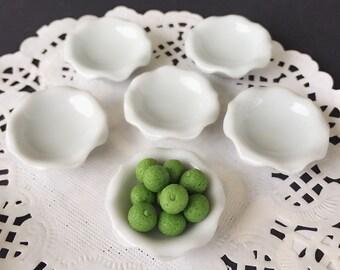 5Pcs. Miniature Ceramic Bowl,Dollhouse Bowl,Miniature food bowl,Mini ceramic bowl,Dollhouse food bowl,Miniature plate,Dollhouse Plate