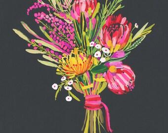 Protea Bouquet PRINT