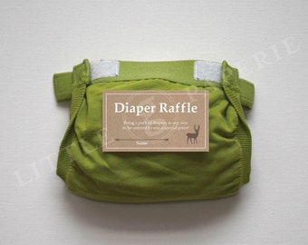 Diaper Raffle Tickets, Printable Diaper Raffle Card, Oh Deer Baby Shower, INSTANT DOWNLOAD