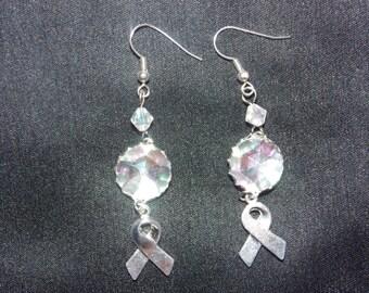 Rhinestone and Ribbon Earrings