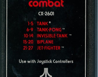 Atari 2600 Combat Game Cartridge Tank battles