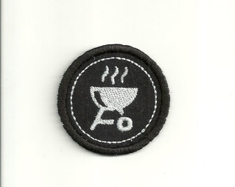 "2"" Grilling Merit Badge, Patch! Any Color combo! Custom Made!"