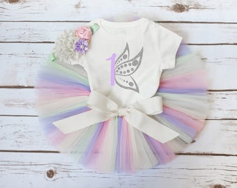 "Butterfly birthday outfit ""Emmeline"" Spring birthday outfit spring first birthday butterfly 1st birthday girl outfit butterfly 2nd 3rd 4th"