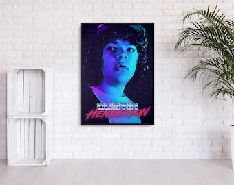 """Stranger Things """"Dustin"""" 80s inspired wall art"""