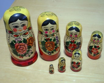 Russian nesting dolls from 1998