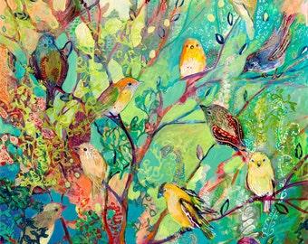 i am the place of refuge - Fine Art Bird Print by Jenlo