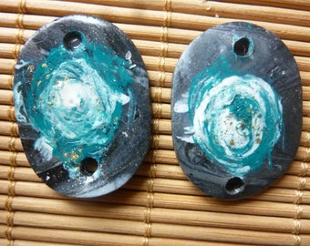"""""""TURQUOISE SWIRL"""" CHARMS FOR EARRINGS."""