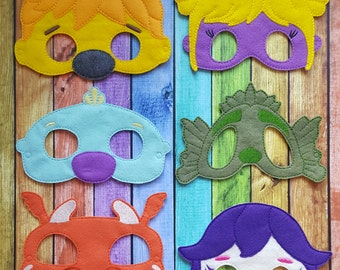 Wally K Felt Masks * Birthday Parties, Party Favors, Playtime, Halloween, Dressup