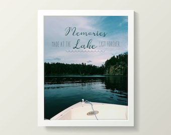 Cabin Life Typography Printable - INSTANT DOWNLOAD PDF