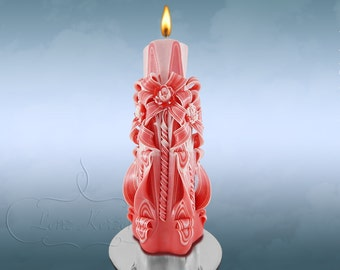 Candles - candle - Unity carved candle - Wedding candle - unique gift