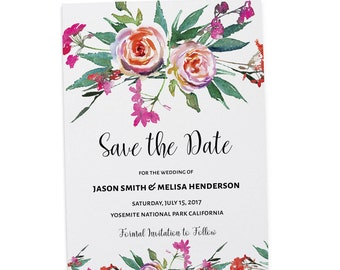 Save the Date Wedding Cards Printable, Save the Date Cards, Personalized Save the Date Cards #32