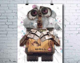 Wall-e - Wall-e Birthday - Wall-e Party - Wall-e Poster - Wall-e Prints - Wall-e Printables - Wall-e Wall Art - Wall-e Wall Decor