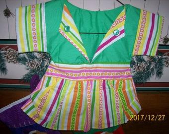 Striped Handmade Clothes Pin Bag