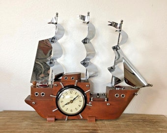 Vintage Nautical Ship Clock Lamp | United Clock Corp. | Brooklyn, New York | Model No. 811 | 1940s
