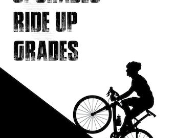 Cycling motivational picture 9x6